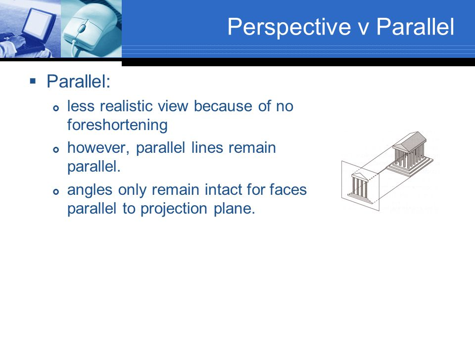 Perspective v Parallel