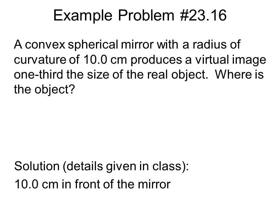 Example Problem #23.16