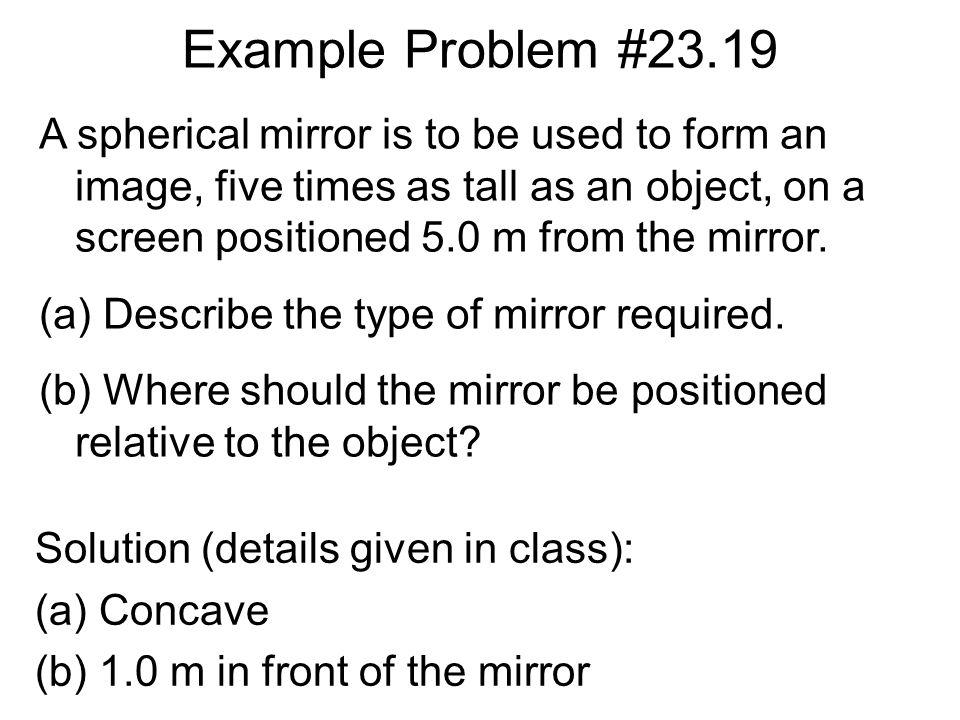 Example Problem #23.19