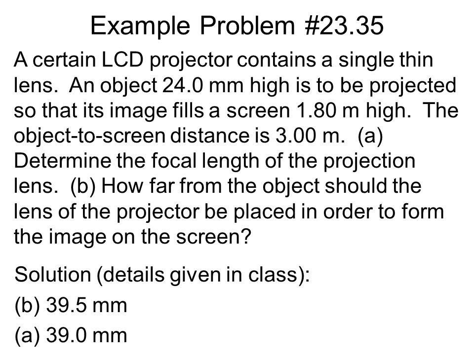 Example Problem #23.35