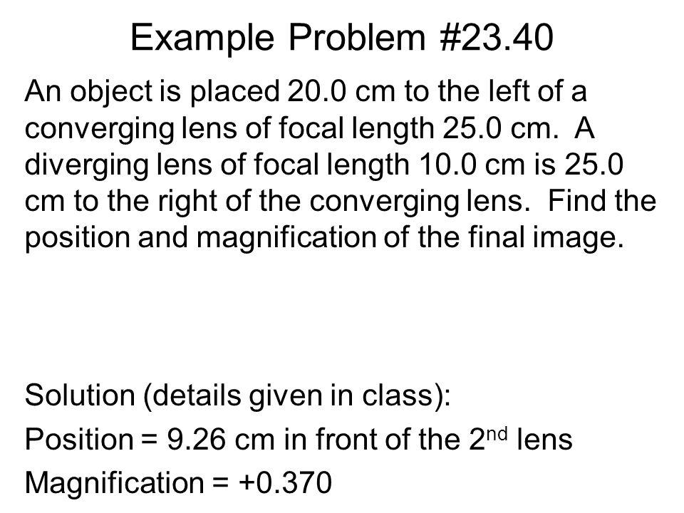 Example Problem #23.40