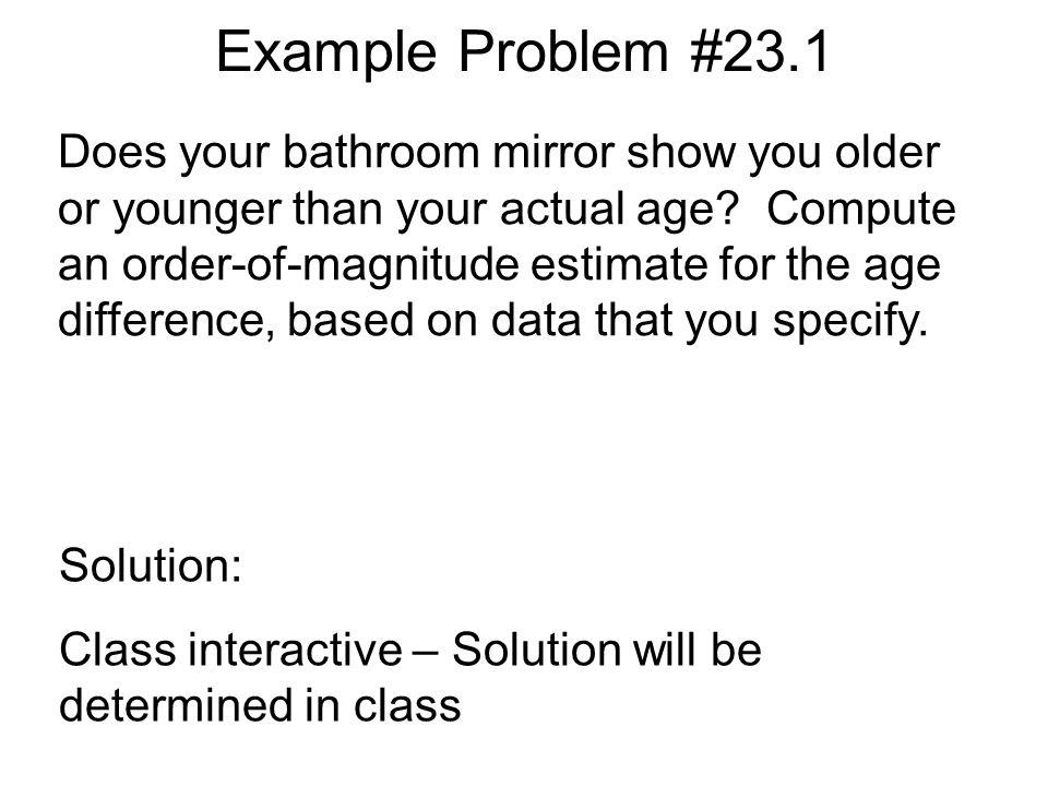 Example Problem #23.1