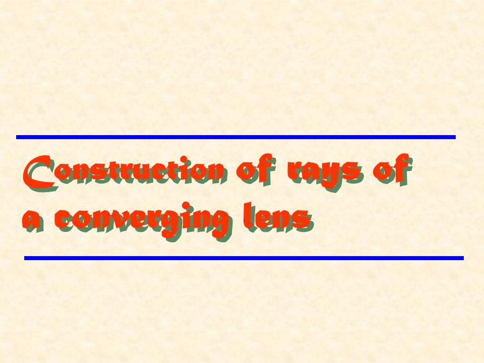 Construction of rays of