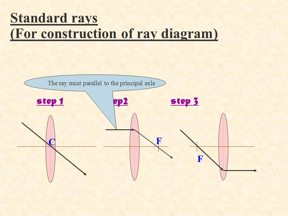(For construction of ray diagram)