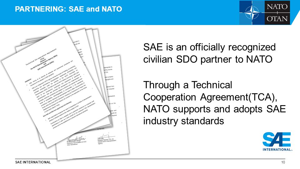 PARTNERING: SAE and NATO