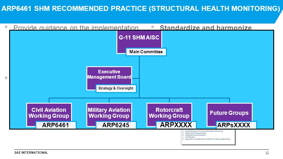 ARP6461 SHM RECOMMENDED PRACTICE (STRUCTURAL HEALTH MONITORING)