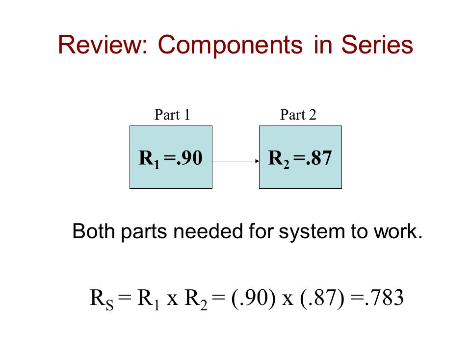 Review: Components in Series