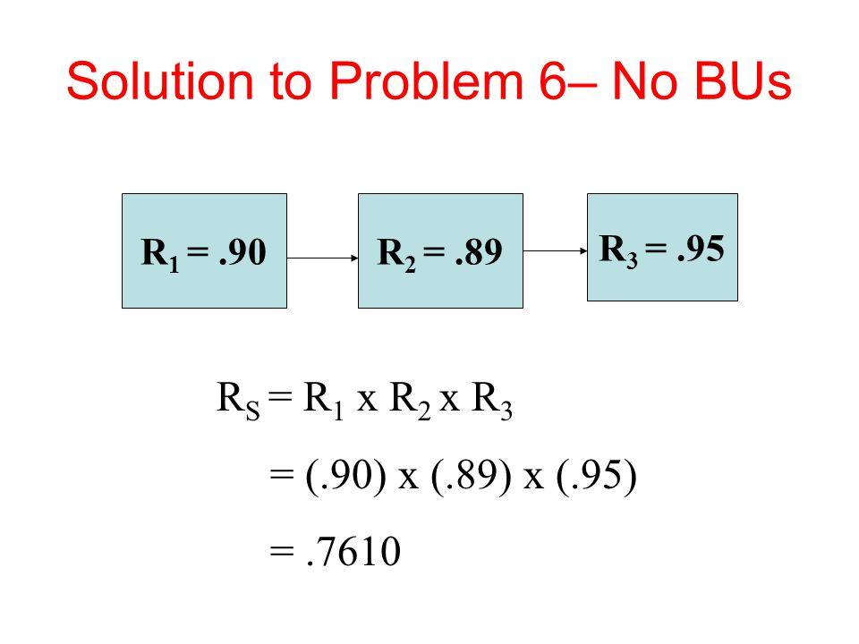 Solution to Problem 6– No BUs