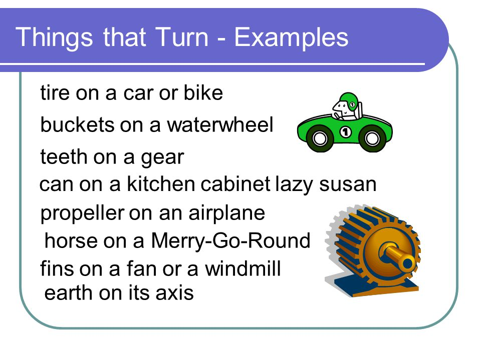 Things that Turn - Examples