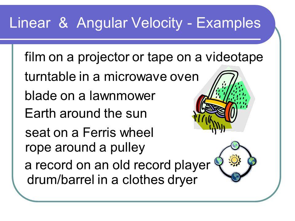 Linear & Angular Velocity - Examples