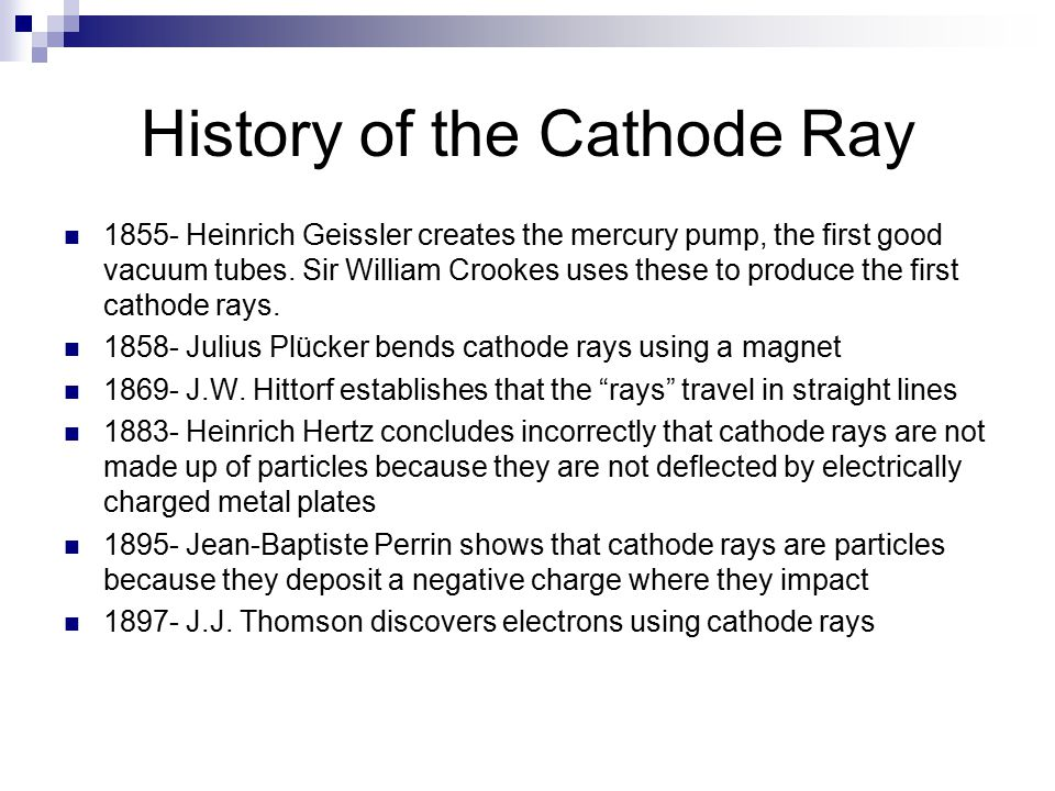 History of the Cathode Ray