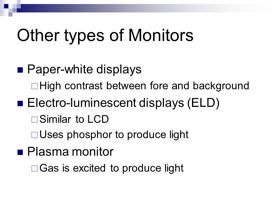 Other types of Monitors