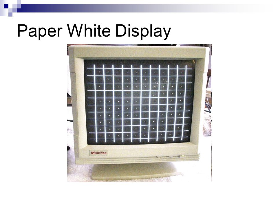 Paper White Display