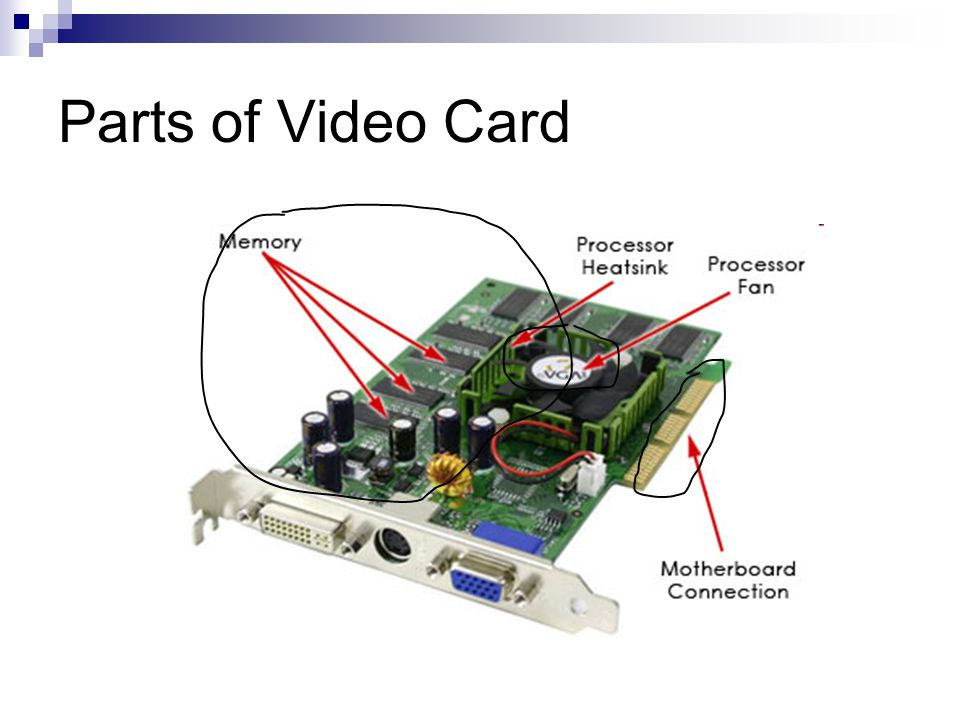 Parts of Video Card
