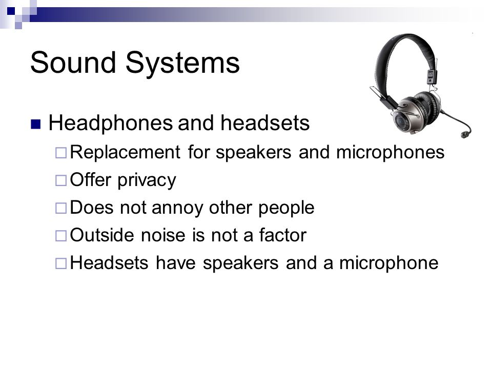 Sound Systems Headphones and headsets