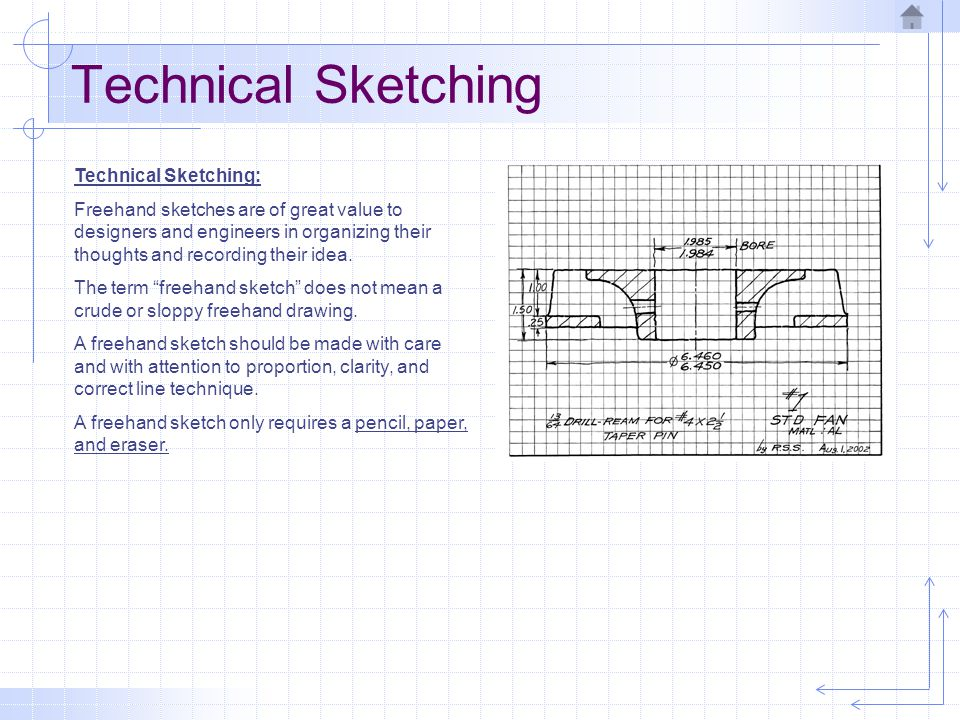 Technical Sketching Technical Sketching: