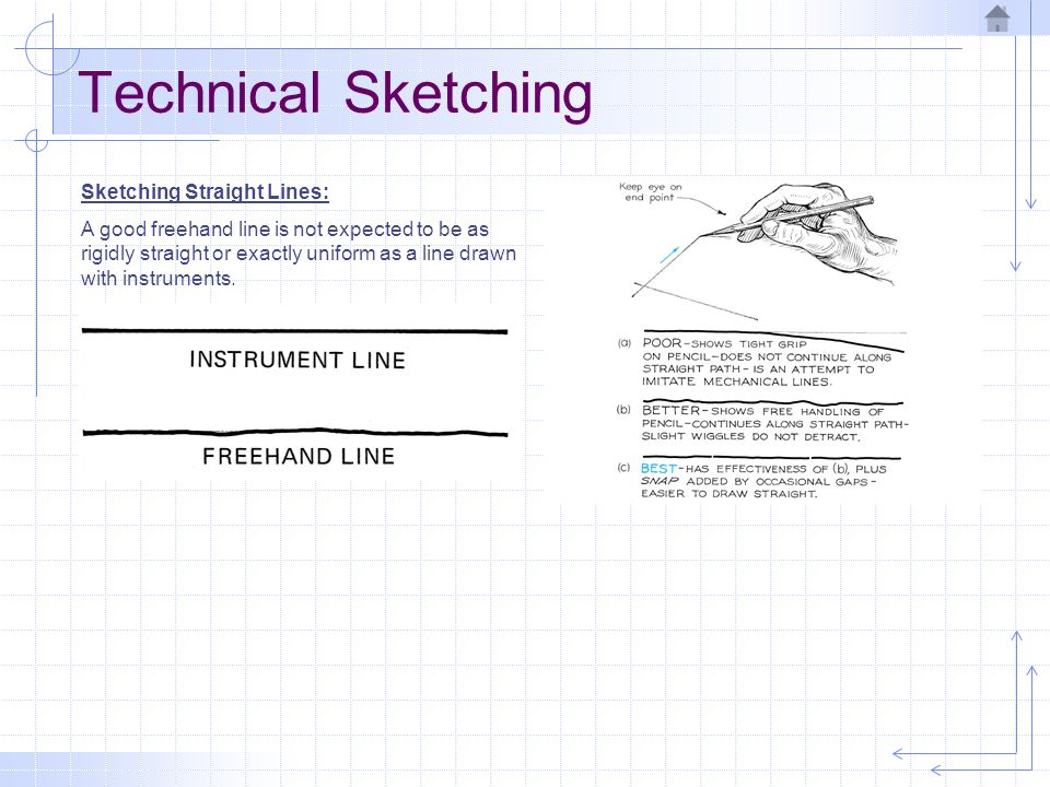 Technical Sketching Sketching Straight Lines: