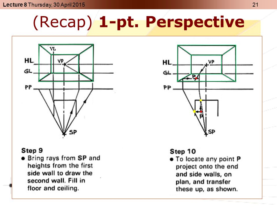 (Recap) 1-pt. Perspective