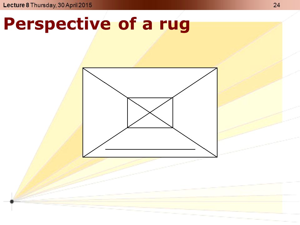 Perspective of a rug