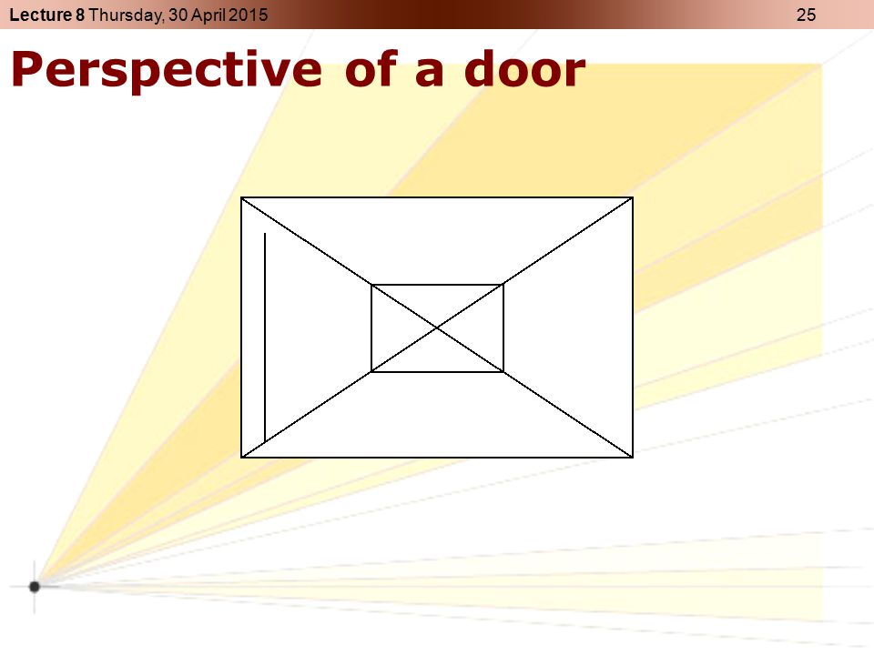 Perspective of a door