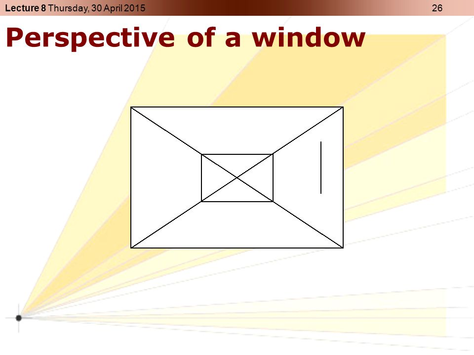 Perspective of a window