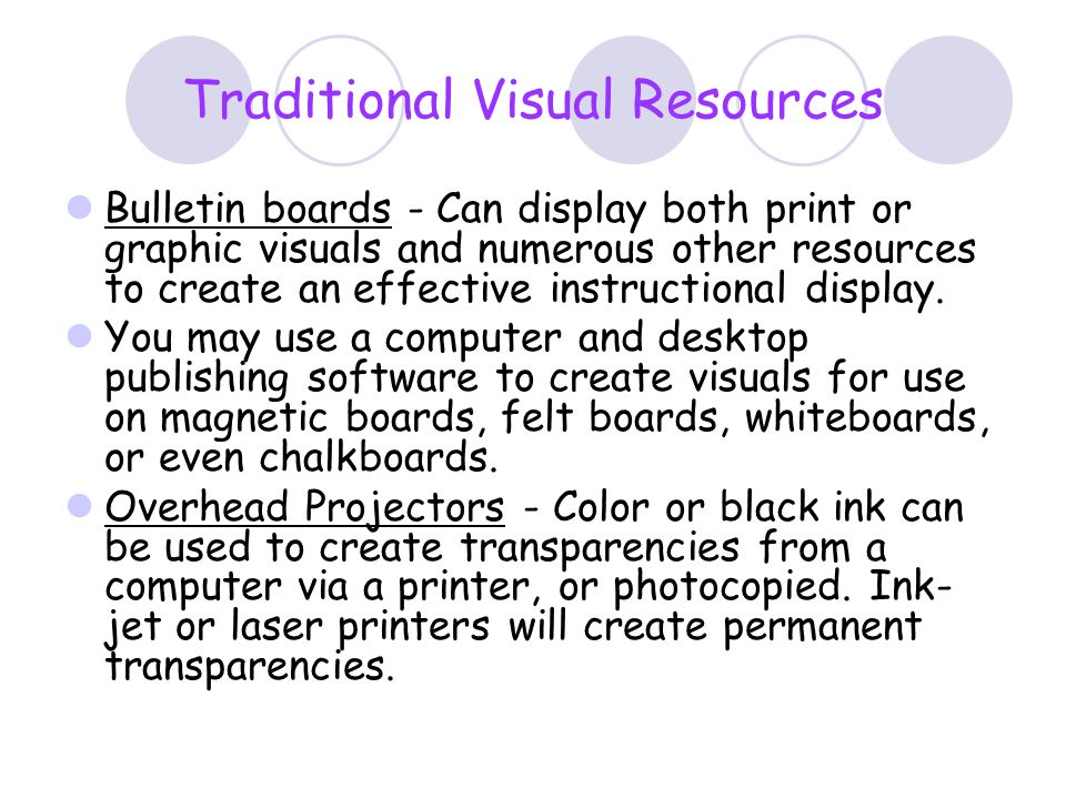 Traditional Visual Resources