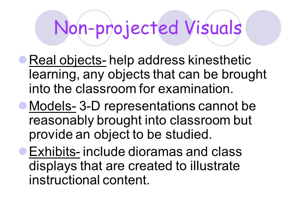 Non-projected Visuals