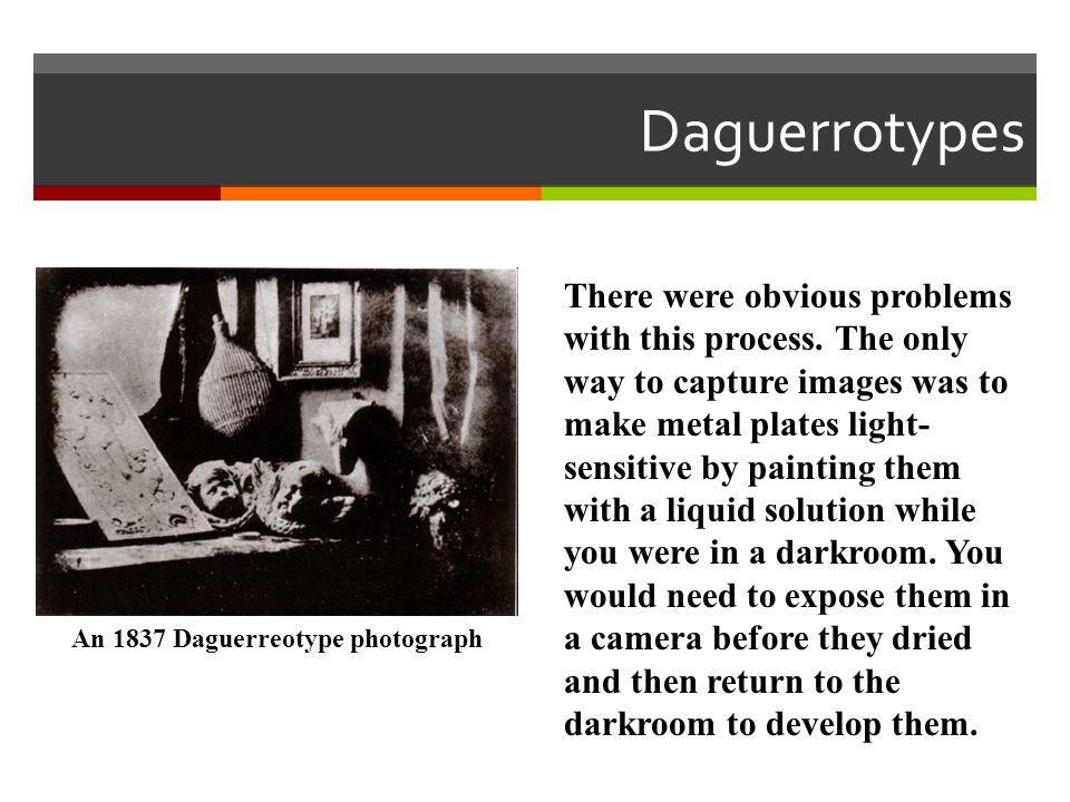 An 1837 Daguerreotype photograph