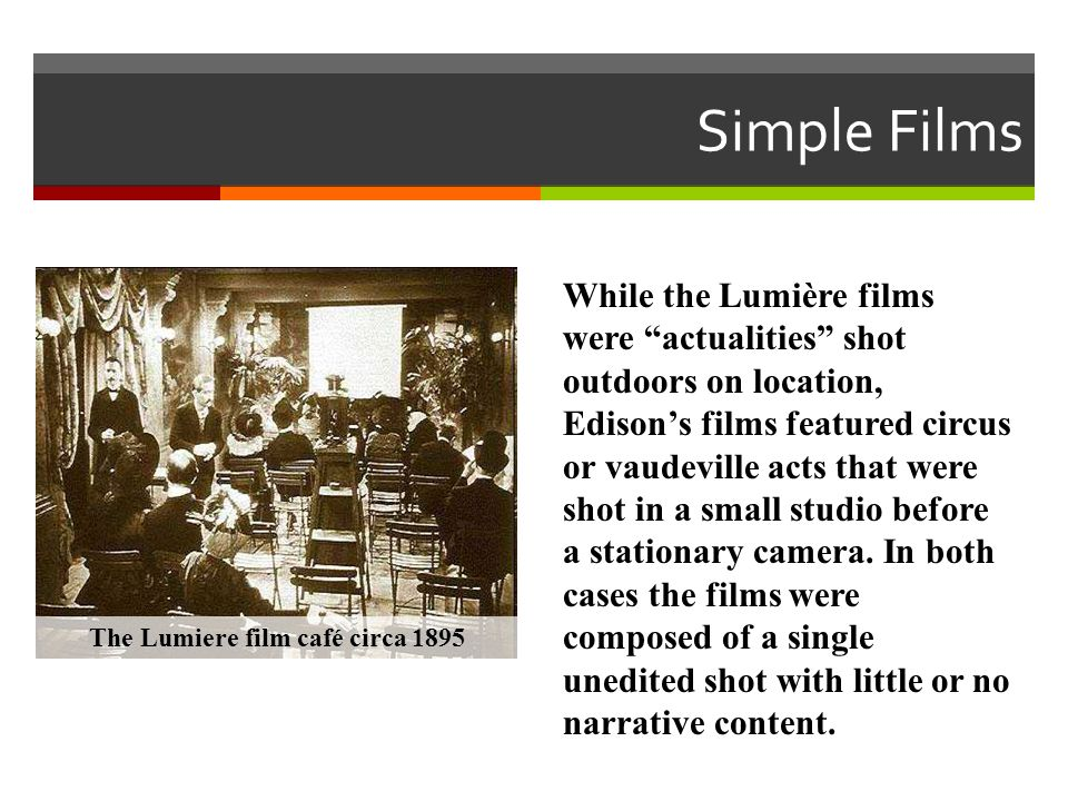 The Lumiere film café circa 1895
