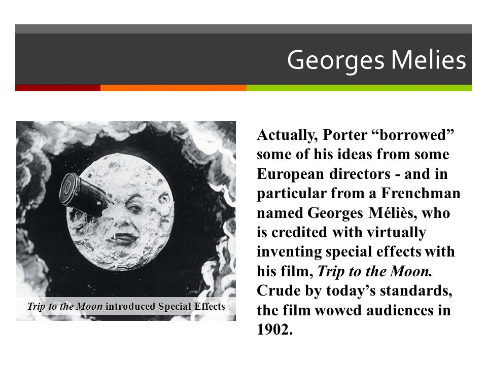 Trip to the Moon introduced Special Effects