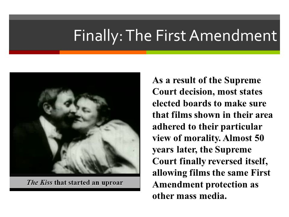 Finally: The First Amendment