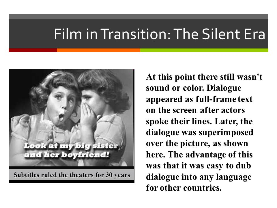 Film in Transition: The Silent Era