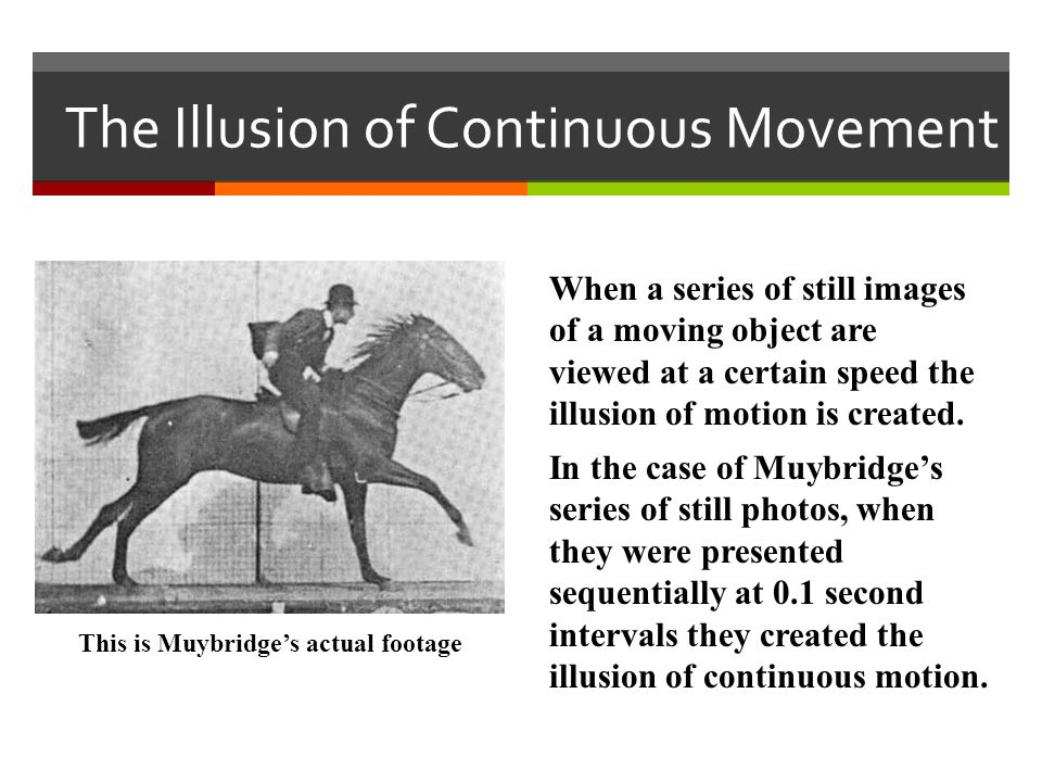 The Illusion of Continuous Movement