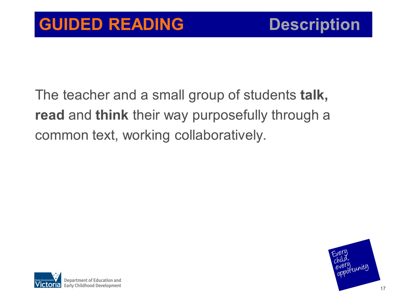 GUIDED READING Description