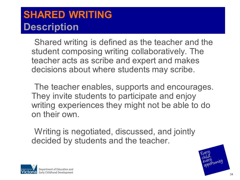 SHARED WRITING Description