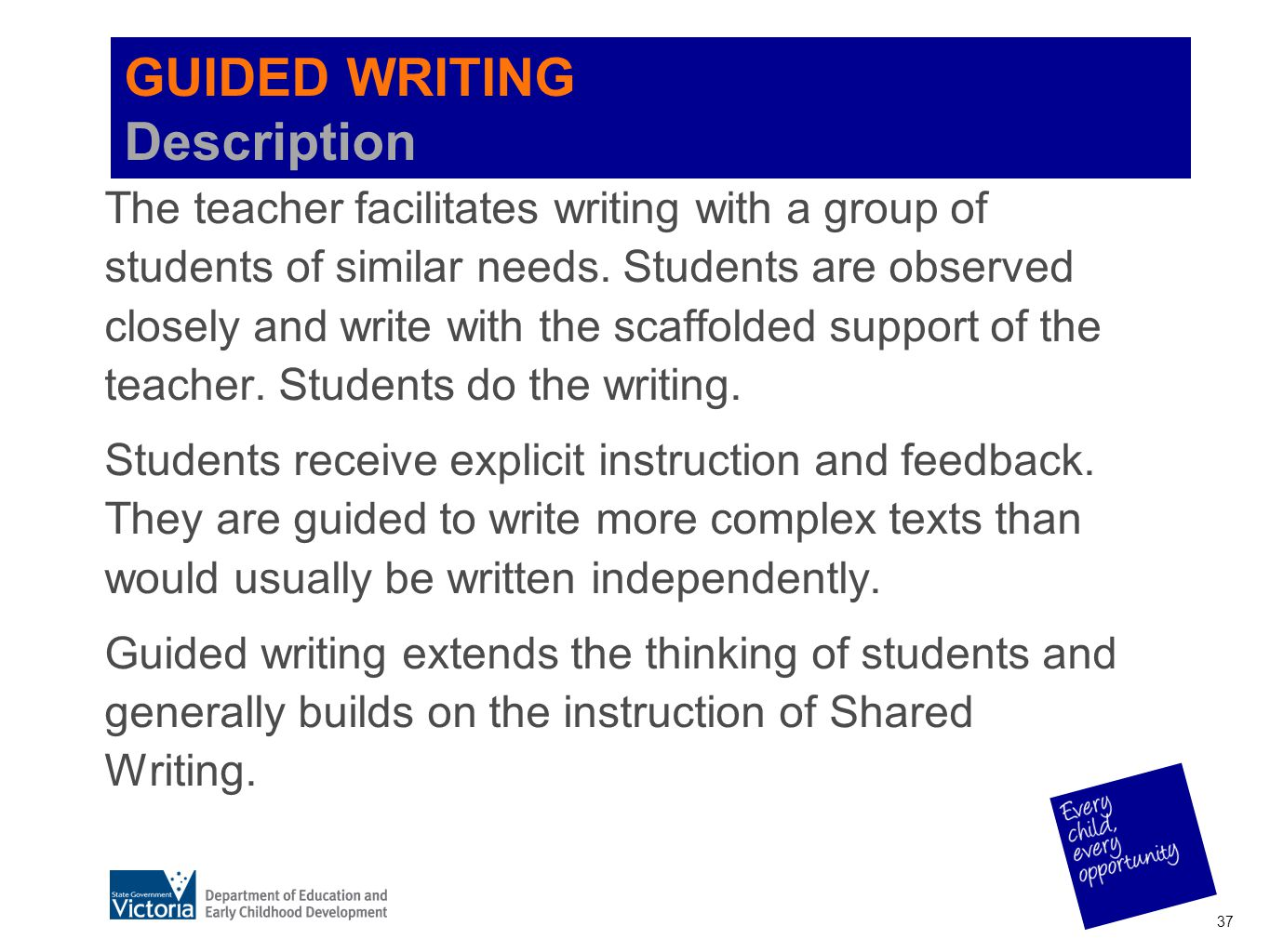 GUIDED WRITING Description