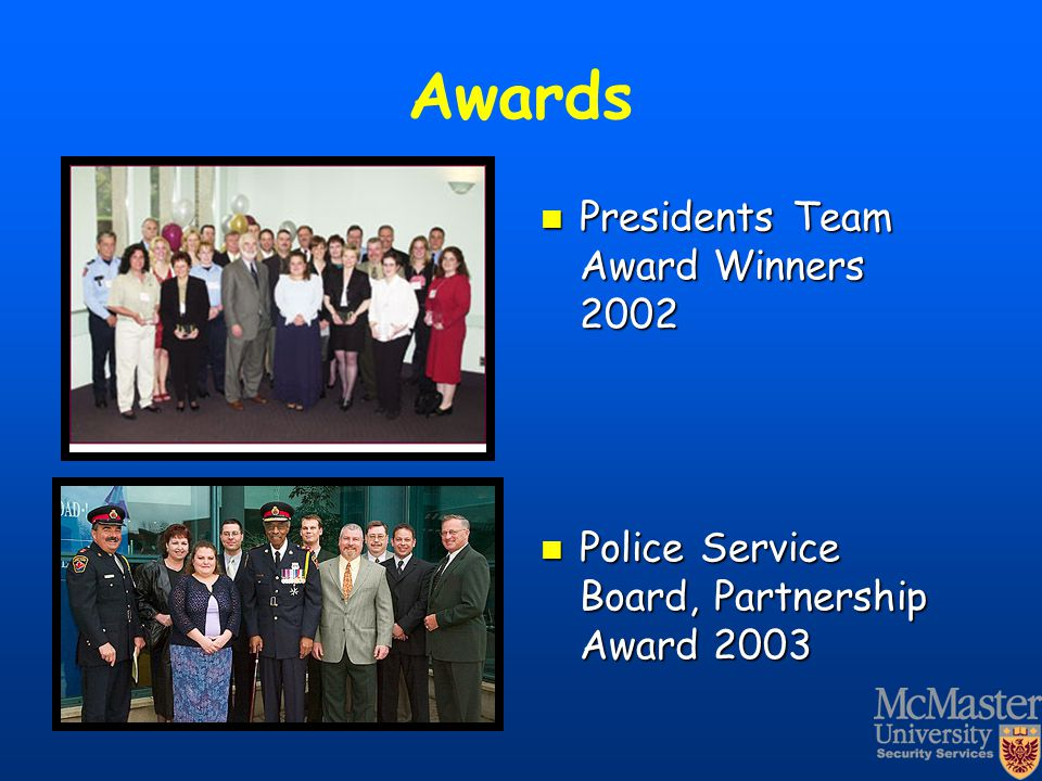 Awards Presidents Team Award Winners 2002