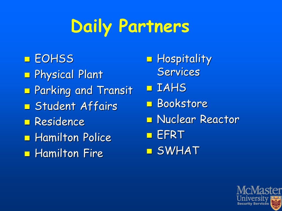 Daily Partners EOHSS Physical Plant Parking and Transit