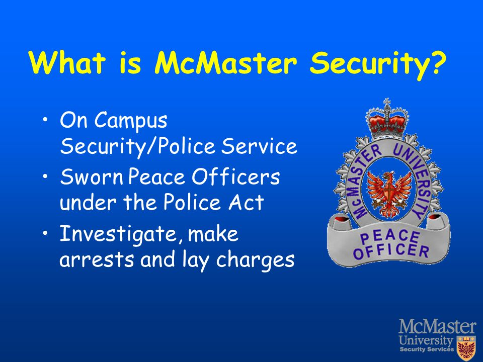 What is McMaster Security