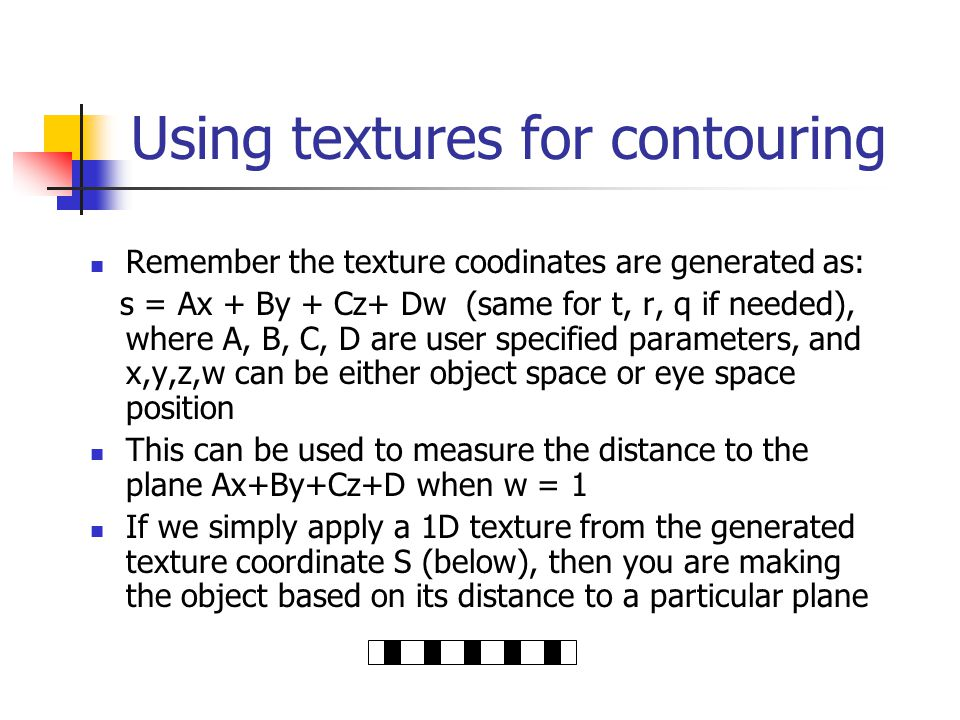 Using textures for contouring