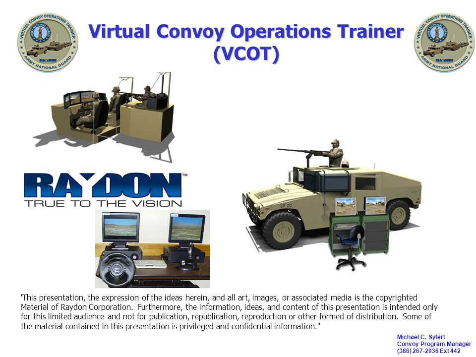 Virtual Convoy Operations Trainer