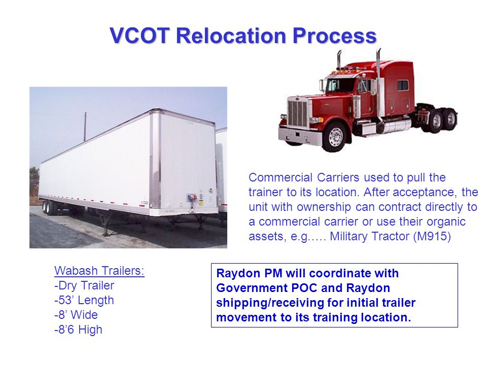 VCOT Relocation Process