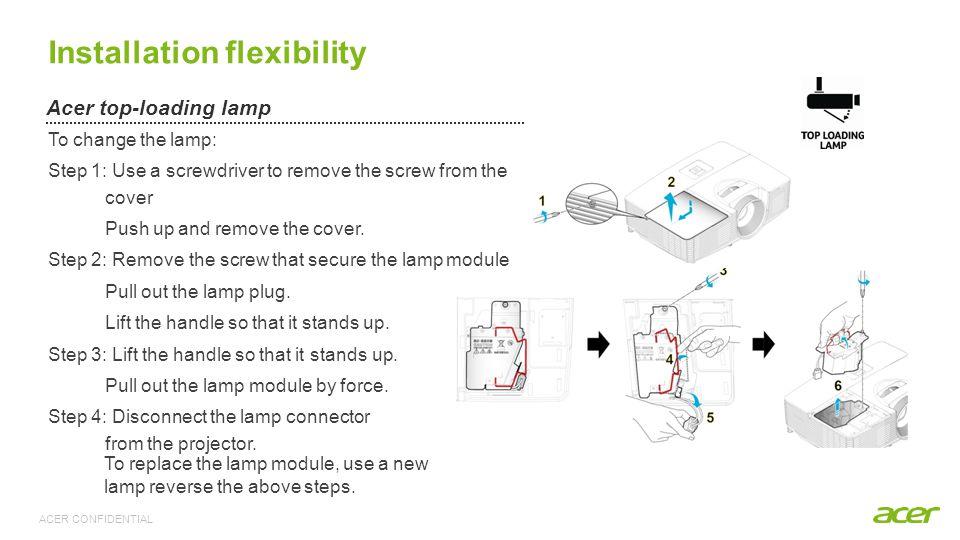 Installation flexibility
