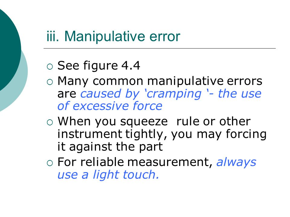 iii. Manipulative error