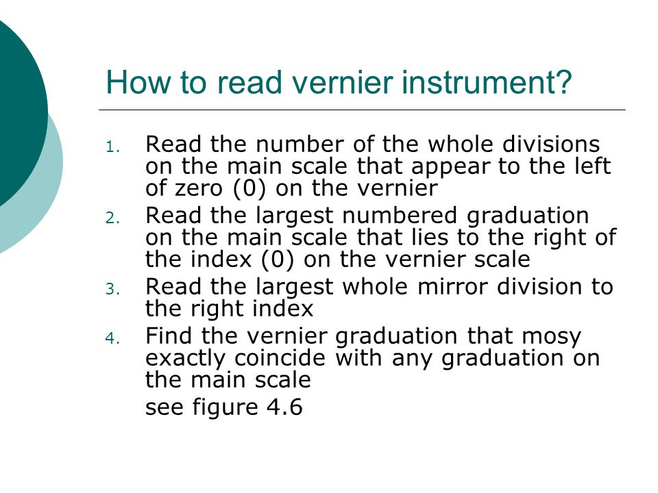 How to read vernier instrument
