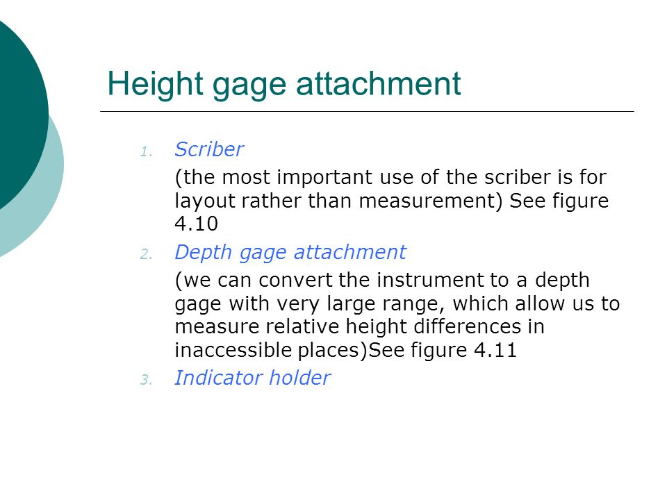 Height gage attachment