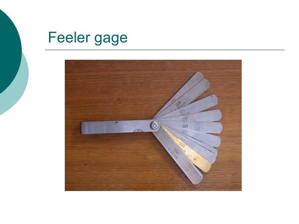 Feeler gage