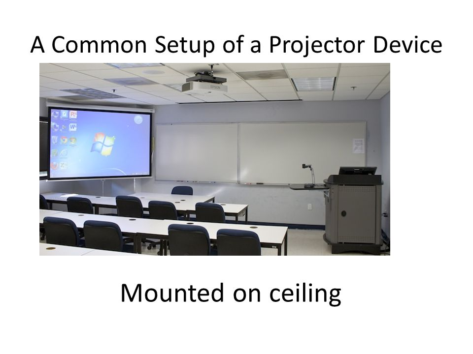 A Common Setup of a Projector Device