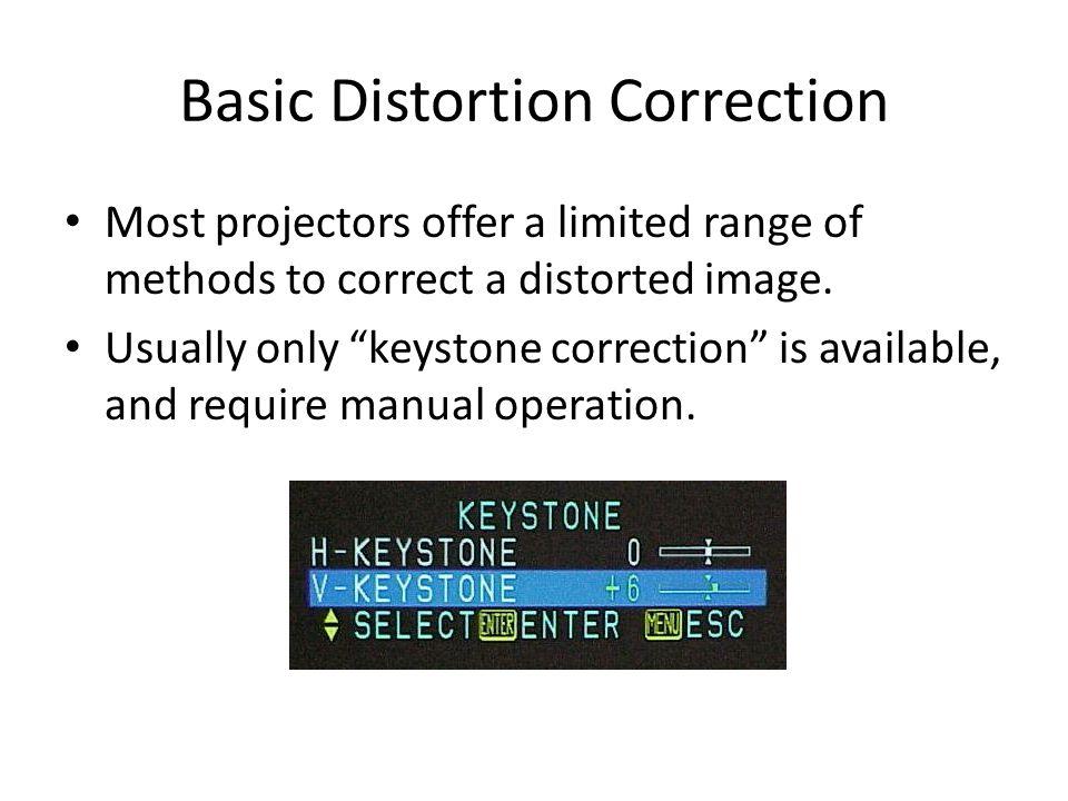 Basic Distortion Correction