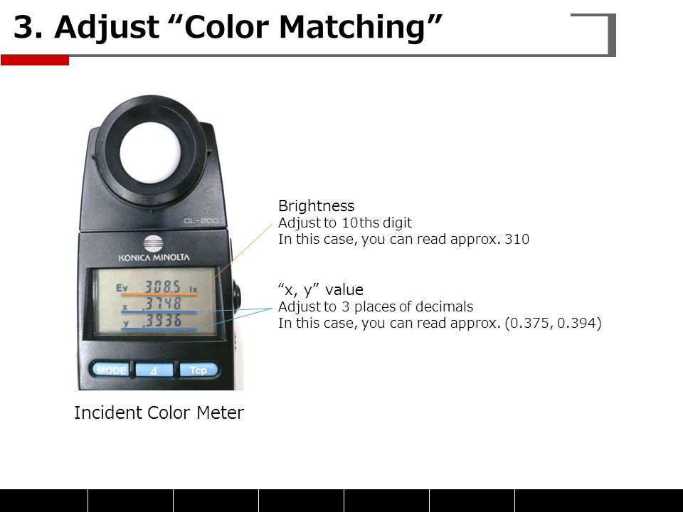 3. Adjust Color Matching